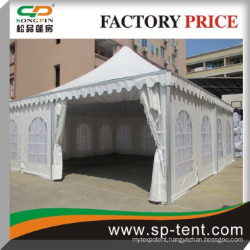 2015 cheap wholesale aluminum frame china marquee pagoda tent 8x8m with white lining