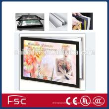 Aluminum profile and rectangle shape led magnetic slim light box