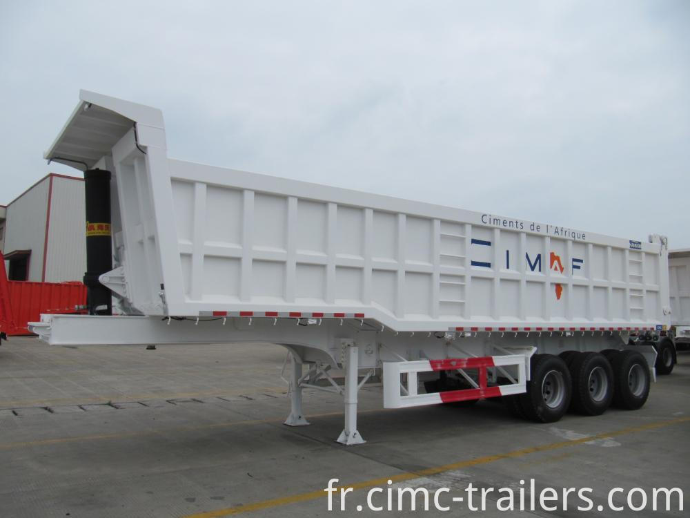 R Tri Axle Rear Tipper Semi Trailer