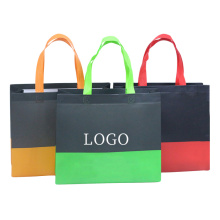 Logotipo impresso feito sob encomenda que dobra o saco de compras não tecido