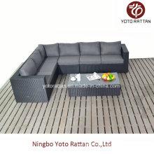 Schwarzes Long Corner Sofa für Outdoor (1302)
