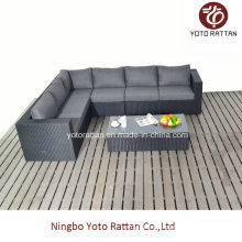 Black Long Corner Sofa for Outdoor (1302)