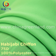 75D Polyester Chiffon Habijabi Fabric for Garment Dress (GLLML235)