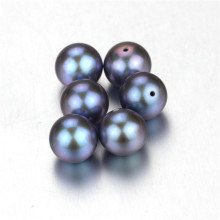 Snh Dye Grey Color Ницца Пресноводные круглые половину бусины жемчужные бусины