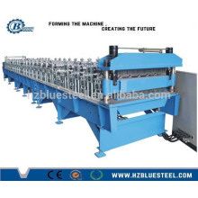 Full Automatic PLC Double Layer Aluminum Glazed Roofing Sheet Making Machine para venda