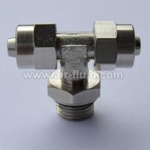Swivel Male Branch Tee BSPP Rapid -Push-Over-Fittings Tube