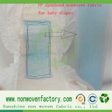 Tela no tejida hidrófila del polipropileno para el pañal del bebé