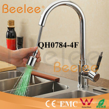 Kitchen Faucet LED Single Black Handle Sink Chromed Pull out Colored Kitchen Faucet