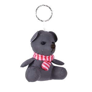 Reflective safety key ring doll with scarf