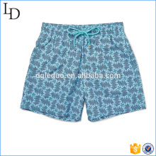 Slim-Fit Mid-Length swimming clothing print swim shorts 100% polyester for men
