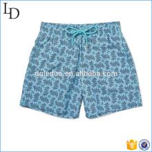 Poliéster 100% do short 100% da natação da cópia da roupa da natação do Meados de-comprimento do Slim-Fit para homens