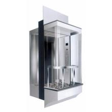 Square Panoramic Glass Lift 800kg 6 person passenger elevator