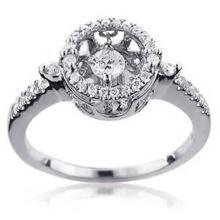 925 Sterlingsilber-Tanzen-Diamant-Ring-Schmucksache-Großverkauf
