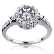 925 Sterling Silver Dancing Diamond Ring Jewelry Wholesales
