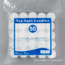 white unscented tea lights palm wax tea candles