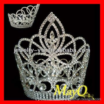 Beauty Round diamond princess crown for girls