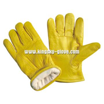 Premium Cow Grain Winter Work Glove