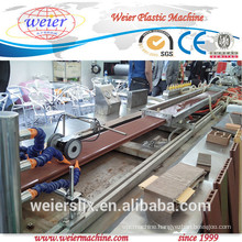 wpc wall panel production line sjsz-65/132 wood plastic composite extruder
