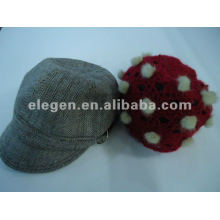 lady lovely winter knitted acrylic hats