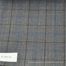 Tela de traje de tela de lana de lana y poliéster de las mujeres traje de lana