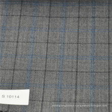 Windowpane Wool-Polyester Fabric women suit fabric suit fabrics wool
