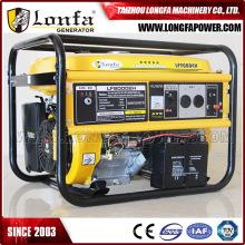 Gerador da gasolina do uso da casa do motor 7kVA 16HP com punho & rodas