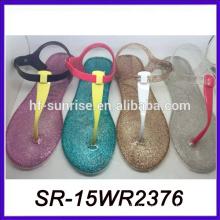 Hotselling PVC-Gelee-Dame Sandale 2015 Modell Sandale brasilianische Sandale