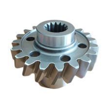precision Steel Spur Spline Gear med nav