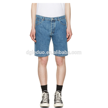 Classic light blue washed denim half pants cheap wholesale jeans shorts
