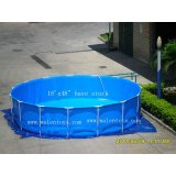 "15'x48"" metal frame pool"