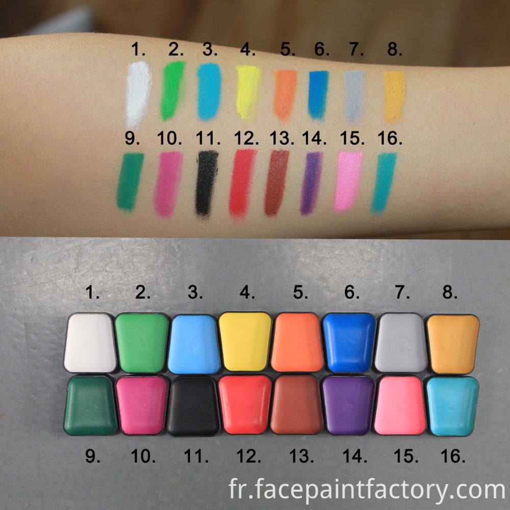 Face paint colors