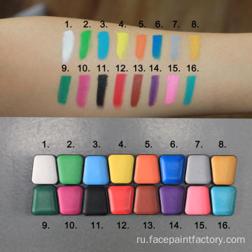 16 colors Water based Christmas face paint kit