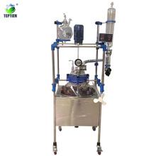 100л санитарно-Одиночная палуба стеклянный реактор с 220В/110В