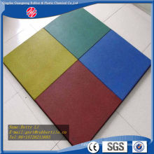 Gym Rubber Tile Colorful Rubber Floor Tiles Playground Rubber Tiles Gym Flooring Mat