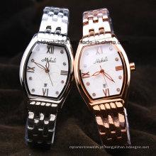 Relógios de diamante de aço inoxidável de luxo para as mulheres