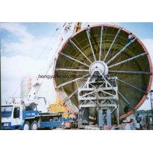 Machine d'enroulement horizontale pour le réservoir de FRP