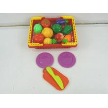 Plastic Fruit Vegetable Kitchen Cutting Toy