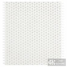 Klare weiße Glasmosaikfliesen für Wanddekoration