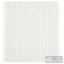 Прозрачная белая стеклянная мозаика для декора стен
