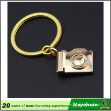 Corrente chave do metal da câmera 3D para o presente da lembrança