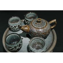 Five sets of hollowed out tea sets