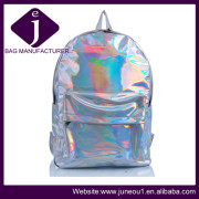 Fashion Outdoor Travel Backpacks Silver Lazer PU Computer Backpack Laptop Bags Bp018
