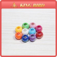 Colorful Decorative Plastic Bead Glass Bead and Acrylic Bead With Hole For DIY