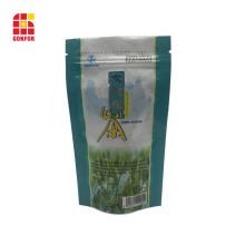 Bolsa de aluminio para bolsa de té con cierre de bolsa ziplock