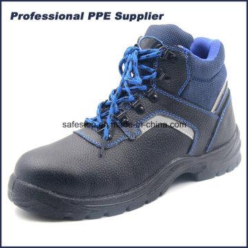 Zapato de seguridad S1p Split PU cuero Injuection