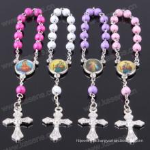 Moda estilo 6 milímetros crack bead plástico religiosa oração pulseira
