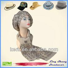 Sombrero de diseñador de señoras y conjuntos de bufanda invierno establece sombrero de punto y bufanda Sombrero de invierno de lana y bufanda para las mujeres al por mayor, LSA02