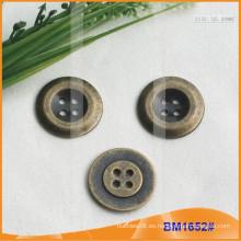 Botón de aleación de zinc y botón de metal y botón de costura de metal BM1652