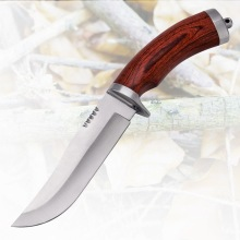 Outdoor Camping Wooden Handle Survival Knife Hunting Knife