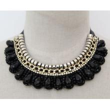 Handgemachte Perlen Kristall Mode Charme Chunky Kostüm Choker Halskette (JE0020)